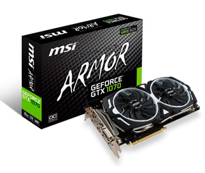 MSI Armor Geforce GTX 1070 8GB OC