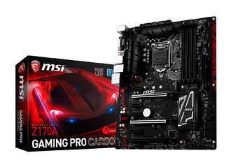 MSI Z170A Gaming Pro Carbon Motherboard LGA 1151