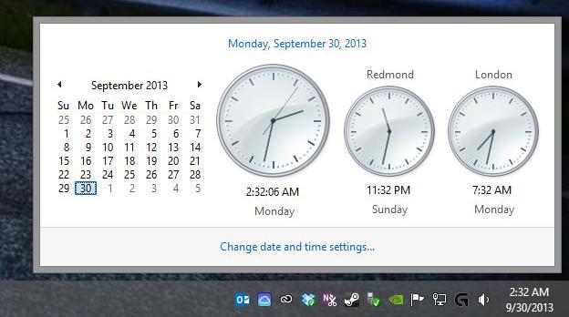 Cómo agregar relojes con diferente zona horaria en Windows