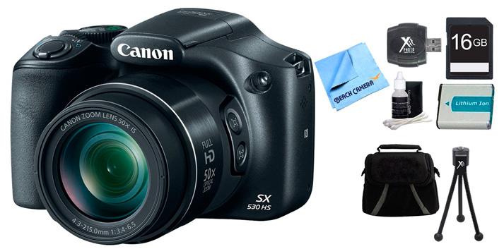 Mejor oferta combo: Canon PowerShot SX530 HS Bundle