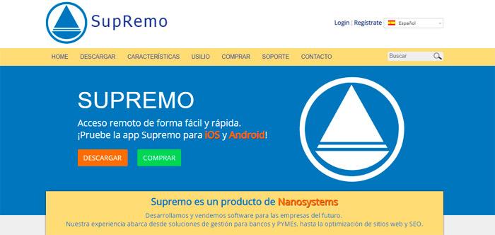 SupRemo remote desktop es el software de acceso remoto más poderoso en manos de un técnico o un especialista.