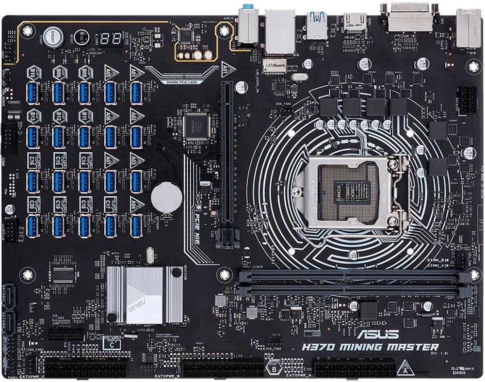 ASUS anuncia el lanzamiento de su motherboard H370 Mining Master, diseñada para la minería de criptomonedas