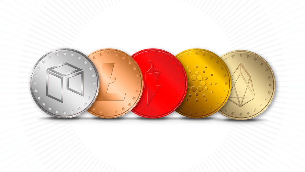 Las 5 mejores altcoins para Julio y Agosto: NAGA, LTC, EOS, NEO y ADA