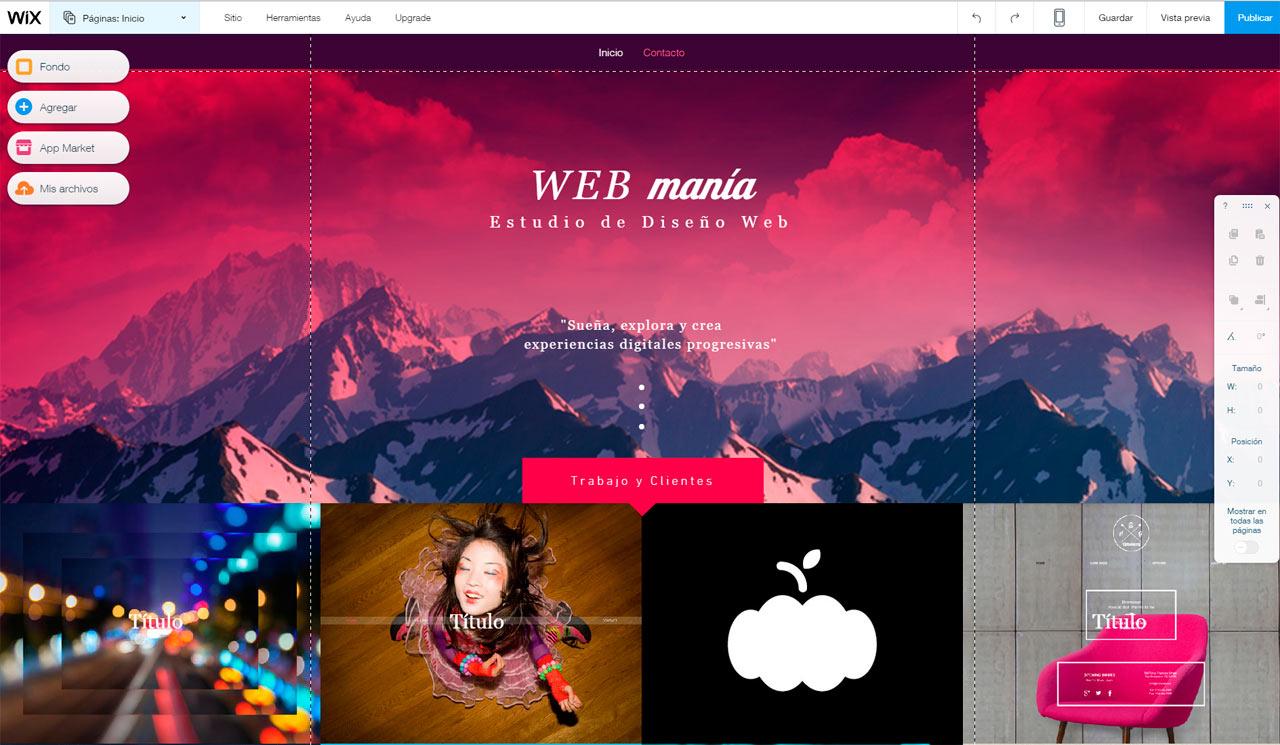 Los 5 mejores sitios para crear paginas web