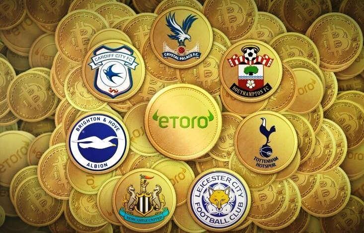 7 clubes de la Premier League se asocian con eToro para pagos de Bitcoin
