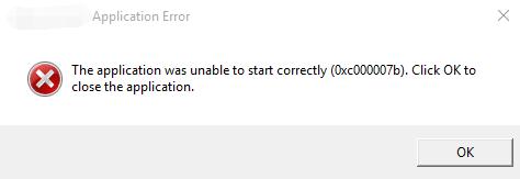 error 0xc000007b windows 10