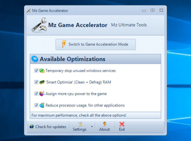 aceleradores de juegos para PC