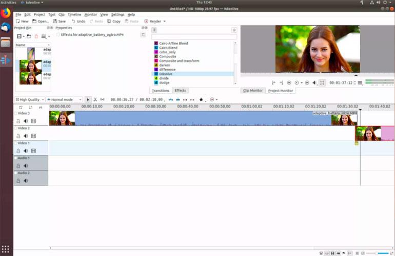 Kdenlive Los mejores editores de videos para ubuntu
